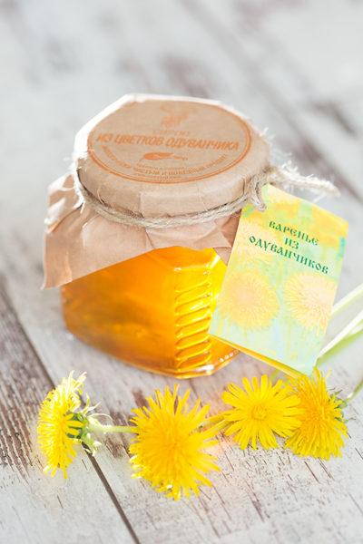 """Варенье """"Экосбор"""" из цветков одуванчика 250мл/320гр"""
