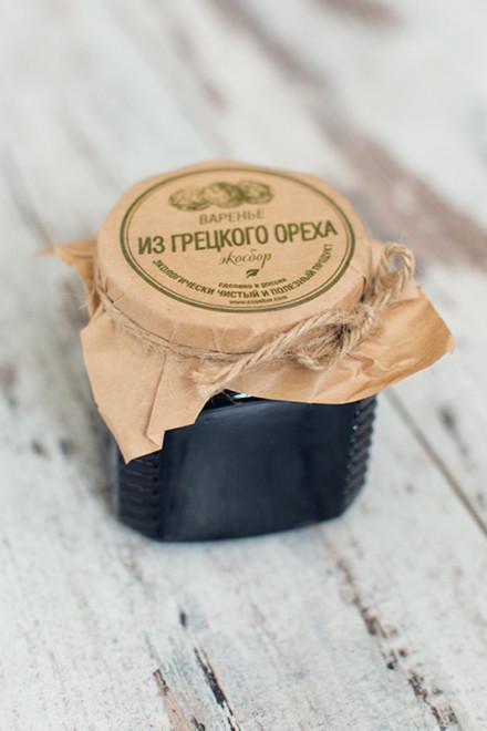 Варенье «Экосбор» из зеленого грецкого ореха 250мл/350гр