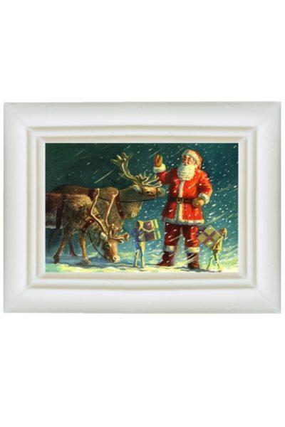 Шоколадная открытка «Дед Мороз готовит подарки!»