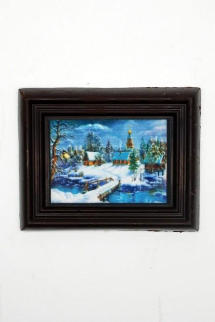 Шоколадная открытка «Зима» 80мм х 100мм