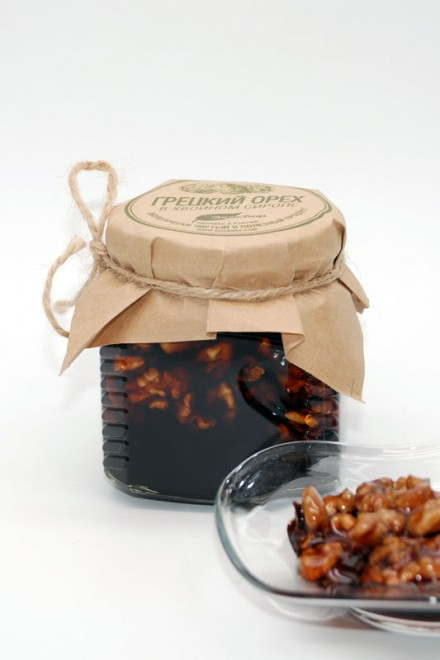 Ядро грецкого ореха в сосновом сиропе 250мл/350гр «Экосбор»