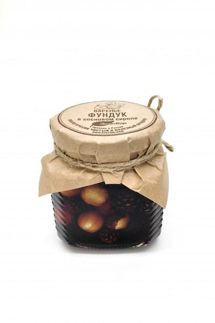 Фундук в сосновом сиропе 250мл/350гр «Экосбор»