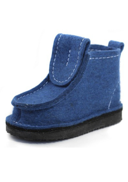 Валенки шитые (валеши) синие на подошве ЭВА 15-25мм. Войлочные стельки в подарок!