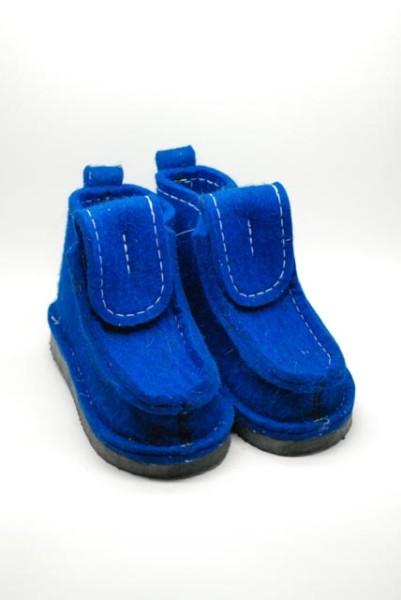 Валенки шитые (валеши) синие на подошве ЭВА 15-25мм. И подарок!