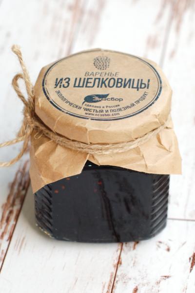 """Варенье """"Экосбор"""" из шелковицы черной 250мл/320гр"""